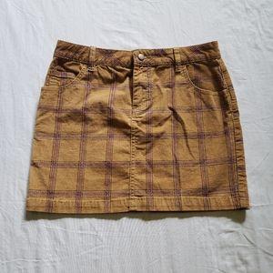 BDG Plaid Jean Mini Skirt